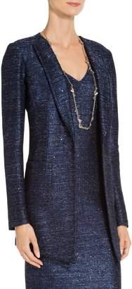 St. John Encased Sparkle Knit Jacket