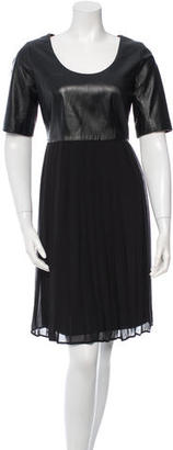 Alice by Temperley Leather-Accented Scoop Neck Dress $110 thestylecure.com
