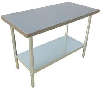 """EQ Kitchen Line Stainless Steel Restaurant Kitchen Prepare Work Surface Table 72""""Lx24""""Wx34""""H"""