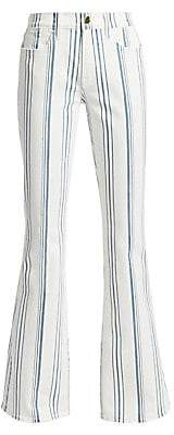 Frame Women's Le High Striped Flare Jeans