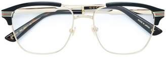 Gucci wayfarer framed glasses