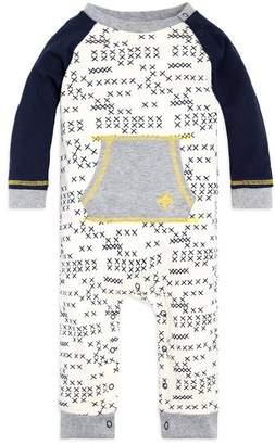 Burt's Bees Cross Stitched Raglan Organic Baby One Piece Jumpsuit