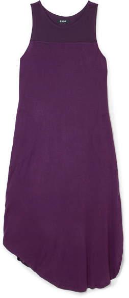 DKNY - Satin-paneled Stretch-jersey Nightdress - Dark purple