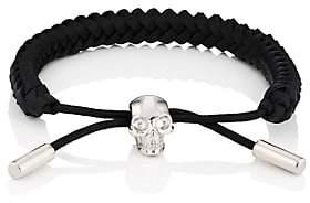 Alexander McQueen Men's Braided Leather Bracelet-Black