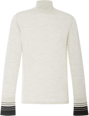 Lanvin Stripe Cuff Turtleneck Sweater