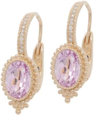 Judith Ripka 14K Gold Gemstone & Diamond Earrings