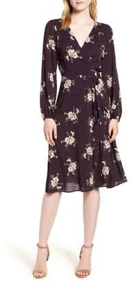 Velvet by Graham & Spencer Floral Wrap Dress