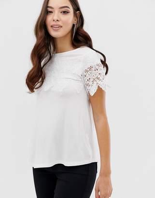 990dd567c90ce Lipsy lace sleeve t-shirt