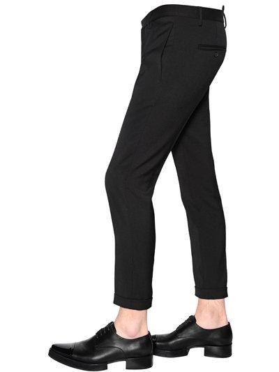 15cm Skinny Stretch Wool Cady Pants 2