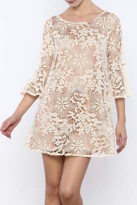 Judith March Cream Crochet Dress
