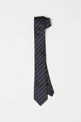 H&M Tie with Text - Black