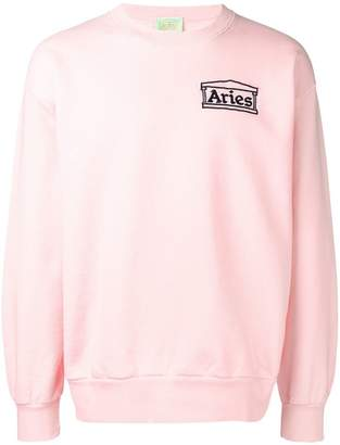 Aries logo patch sweatshirt