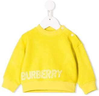 Burberry stencil logo print sweatshirt