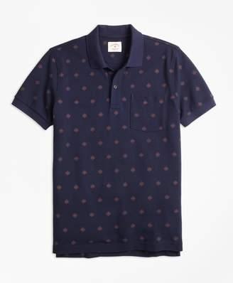 Brooks Brothers Medallion-Print Cotton Pique Polo Shirt