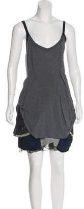 Toga Pleat-Accented Mini Dress