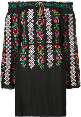 Needle & Thread embroidered off-the-shoulder dress