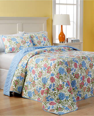 Martha Stewart Collection Closeout! Collection Cotton Gramercy Garden Reversible Quilted Full Bedspread, Created for Macy's
