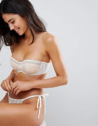 Asos DESIGN PREMIUM BRIDAL Pearl & Underwire Strapless Bra