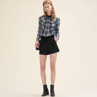 Maje Floaty checked blouse