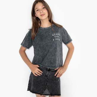 La Redoute COLLECTIONS Short Faded, Embroidered T-Shirt, 10-16 Years