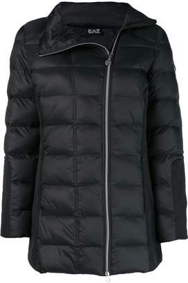 Emporio Armani Ea7 asymmetric zipped puffer jacket