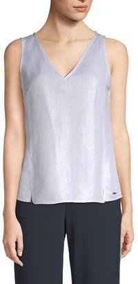 Armani Exchange Women's Metallic Tie Top