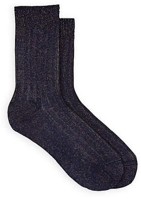Maria La Rosa Women's Cotton-Blend Mid-Calf Socks - Dk. Blue