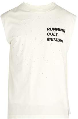 Satisfy Cult Distressed Cotton T Shirt - Mens - White