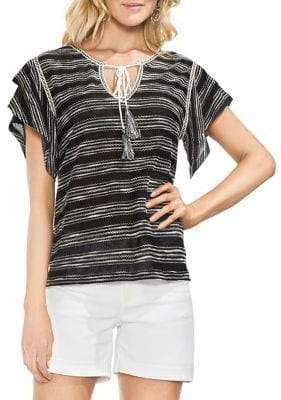 Vince Camuto Tiered Ruffle Striped Blouse