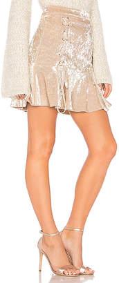 Endless Rose Crushed Velvet Mini Skirt