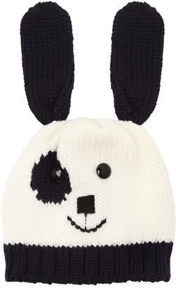 Dog Merino Wool Knit Beanie Hat