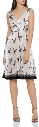 Reiss Peyton Bird-Print Dress