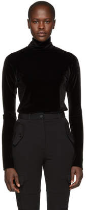 Haider Ackermann Black Velvet Kerria Turtleneck