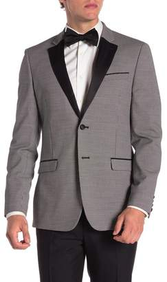 14th & Union Herringbone Notch Lapel Extra Trim Fit Dinner Jacket