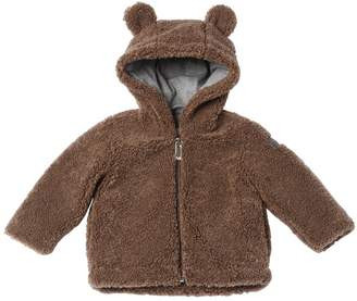 Il Gufo Bear Hooded Zip-Up Plush Jacket