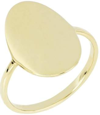 Bony Levy 14K Yellow Gold Oval Concave Ring - Size 6.5