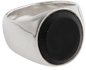 Women's Tom Wood Black Onyx Oval Signet Ring $400 thestylecure.com