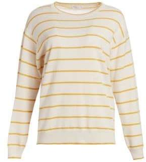 Brunello Cucinelli Virgin Wool& Cashmere Stripe Sweater