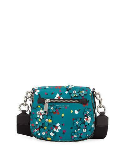 Marc Jacobs Marc Jacobs Nomad 3D Flowers Small Messenger Bag, Turquoise/Multi