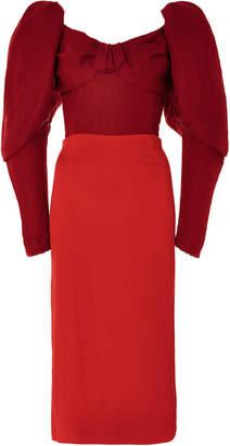 Hellessy Thelma Puff Sleeve Dress