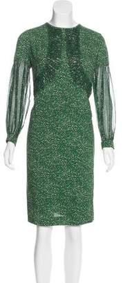 Dries Van Noten Silk Printed Dress w/ Tags