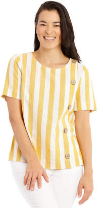 Regatta Side Button Short Sleeve Shell Top