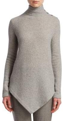 Ralph Lauren Button-Shoulder Cashmere Poncho