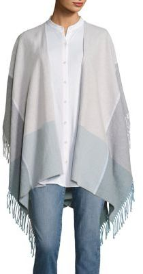 Eileen Fisher Fringe Trimmed Poncho $158 thestylecure.com