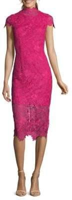 Nicole Miller Floral Lace Sheath Dress