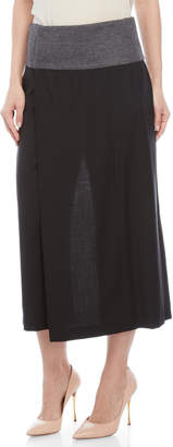 Derek Lam Wrap Front Cropped Wide Leg Pants
