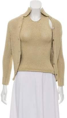 Dolce & Gabbana Open-Knit Sweater Set