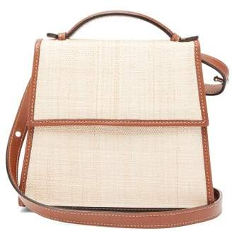 Hunting Season The Top Handle Leather And Canvas Shoulder Bag - Womens - Tan Multi