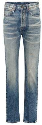 Gucci Embroidered straight-leg jeans