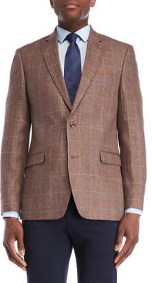 Tommy Hilfiger Windowpane Linen Sport Coat
